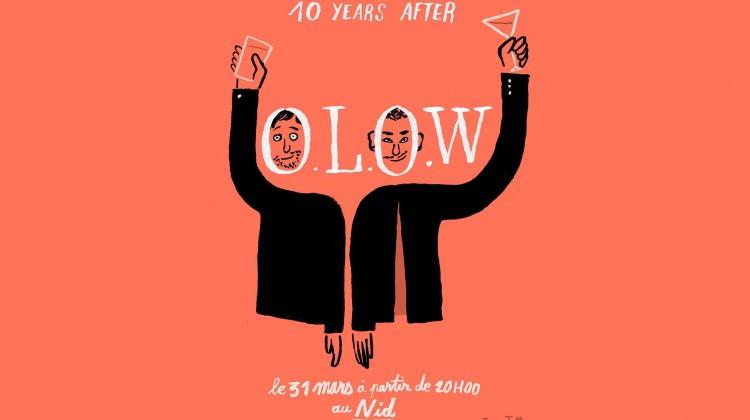 olow 10 years after - affiche par Jean Jullien