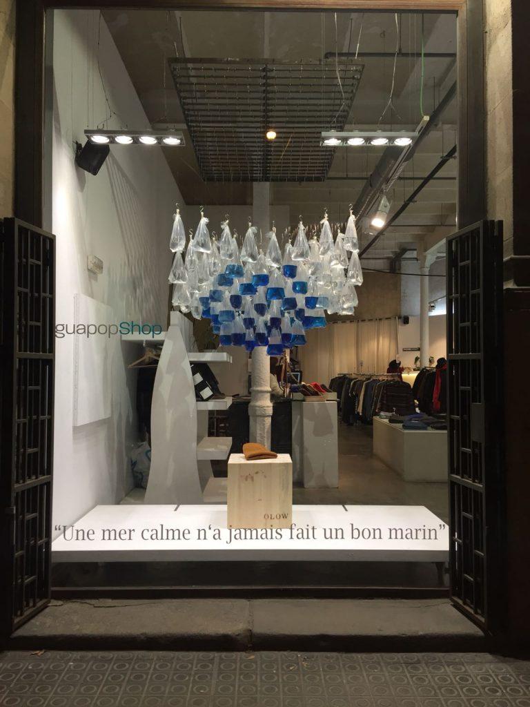 Olow Iguapop shop brand window artwork